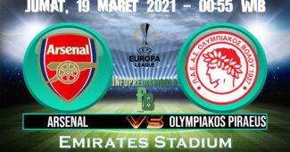 Prediksi Skor Arsenal vs Olympiakos Piraeus