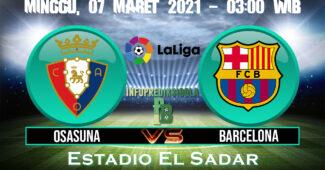Prediksi Skor Osasuna vs Barcelona